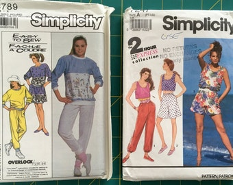 Sizes 6-20 Lot of 2 Casual Separates Sewing Patterns