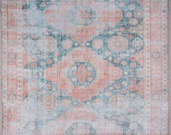 """MS-16 Turkish handmade Oushak vintage rug.,352 x 241 cm., 11' 5"""" x 7' 9"""" ft., Shipping included.."""