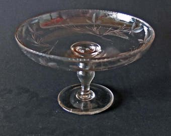 GLASS CAKESTAND - hand made - c1930s? - REDUCED price