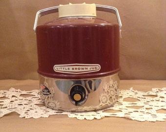 Vintage 1970s Little Brown Jug Cooler