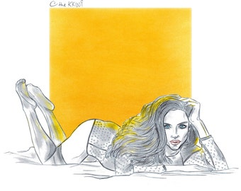 Woman in Yellow (digital)