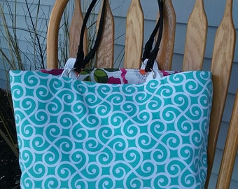Tote Bag, Beach Bag, Handbag, Diaper Bag, Market Bag, Purse, School Bag, Reversible Tote Bag