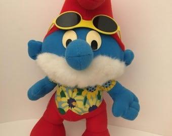 "Vintage Peyo Papa Smurf.  11"" Plush Doll From 1996 ."