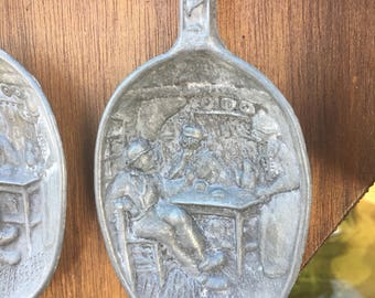 Vintage Pewter Spoon Set