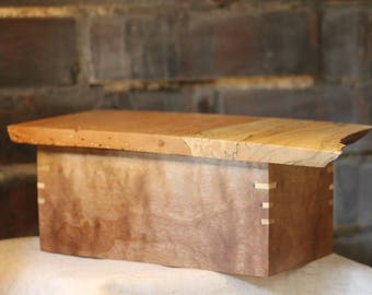 Black Walnut and Live-edge Spalted Maple Box