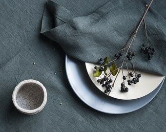 Grey Linen Tablecloth, Pure Linen Tablecloth,Soft Linen Tablecloth,Handmade Table Cloth,Grey Gray Linen Table Cloth,Linen Table Decor