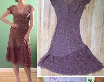 Vintage Calypso Silk Dress Size M