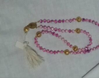 Pretty purple paternoster prayer beads
