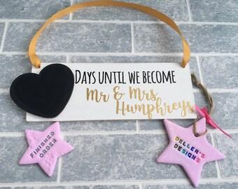 Personalised Wedding countdown plaque