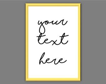 Custom Typography Prints