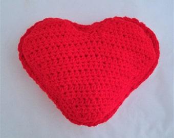Crochet Heart, Heart Pillow, Handmade Heart Pillow, Custom Heart Pillow, Bedroom Heart Pillow, Crochet Heart Pillow, Crochet Throw Pillow