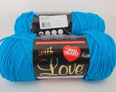 blue hawaii - Red Heart With Love worsted weight yarn  2040
