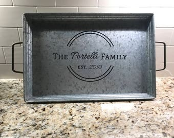 Personalized Serving Tray 11 X 17