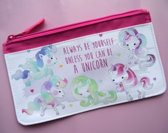 Unicorn pencil case always be yourself unless you can be a unicorn girly back to school homework