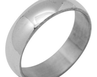 Stainless Steel Ring  Size 9 1/4   (SSR-109)