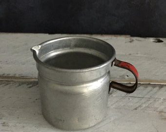 vintage mini aluminum jug, food photography prop, food styling prop
