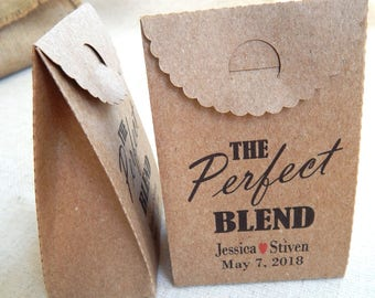 Set of 10 pcs. Personalized The Perfect Blend Wedding Gift Bags, Favor Boxes, Custom  Favor Boxes, Wedding Favors, Bridal Showers, Gift Box
