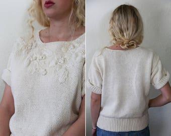 Silk Knit Embroidered Blouse Liz Claiborne