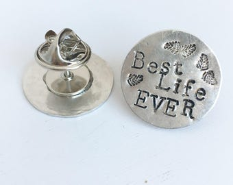 Tie Tack Lapel Pin Your Custom Personalized Message