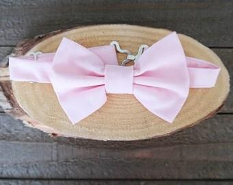 Light Pink Adjustable Bow Tie