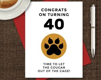 Cougar birthday card etsy printable birthday card birthday card 40th birthday hilarious birthday card insulting birthday bookmarktalkfo Image collections