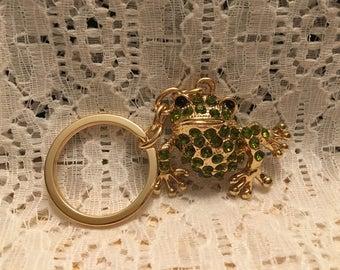Green Crystal Frog Keychain