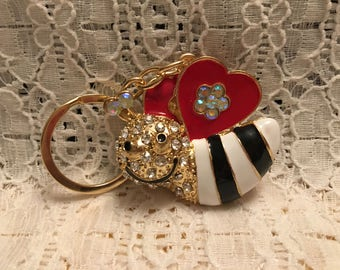 Crystal Bumble Bee Key Chain
