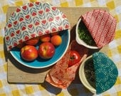 THE PICNIC PACK  5pk BeeBee Wraps (2 sml 2 med 1 Lge)  Beeswax Cotton Food Wraps Reusable Organic Sustainable Eco Friendly
