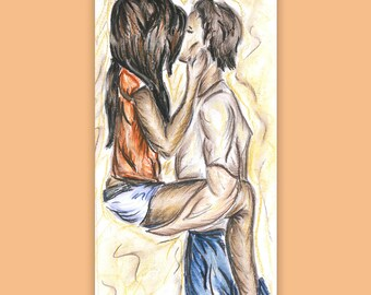 Jamie and Irina- Chalk Pastel Drawing