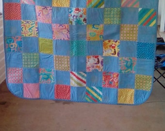Colorful Patchwork Toddler Quilt