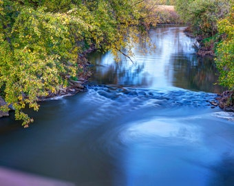 Nature Photography - River - HDR - Fall - Wall Art