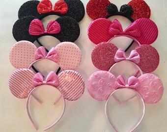 clearance Minnie Mouse Ears, Mickey Mouse Ears, Minnie Ears Headband, Minnie Birthday Party Favors, Disney Cruise, Minnie, Disney Vacation