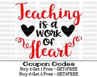 Teaching Is A Work Of Art Svg Teacher Svg Teacher Appreciation Svg PNG School Svg Cricut Svg Silhouette Cameo Files Svg Designs Svg Files