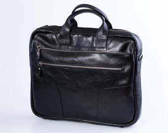 New Briefcase,Gifts For Mens,Leather Briefcase,14 inch laptop bag,Mens Briefcase,Cross Body Bag,Laptop Bag,Leather Briefcase, Satchel (63)