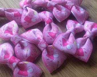 """peppa pig """"fairy themed"""" hairbow ribbon clips"""