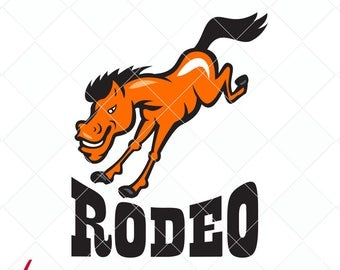 rodeo svg, horse dxf, cowboy bronco svg, jpg, png, dxf cutting files, clip art, printable, iron-on, rodeo