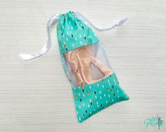 Ballet Pointe Shoe Bag - Dance Shoe Bag - Ballet Bag   Teal Gem