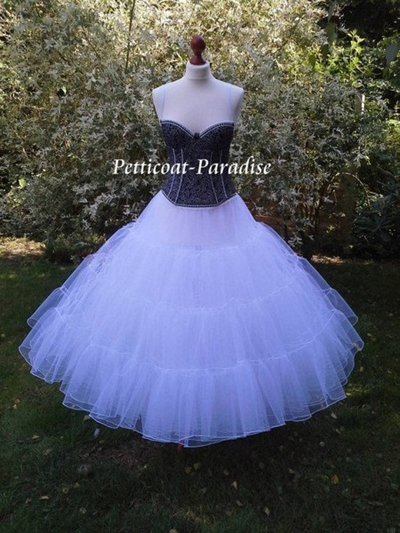 Wedding dress petticoat tulle for Tulle petticoat for wedding dress