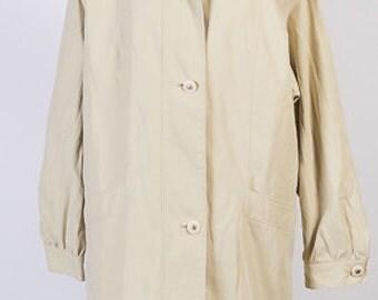 Vintage jacket,Light yellow jacket, Windbreaker jacket,Womens jacket,Size 18 UK