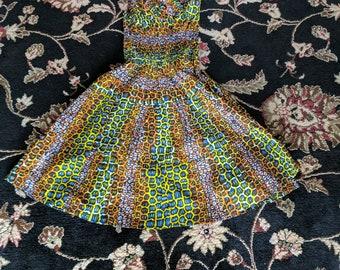 African Print Sundress Tiled Design