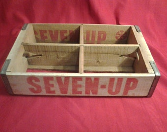 Vintage 7up Wooden Crate Seven UP Antique Cola Crate Shelf 1972