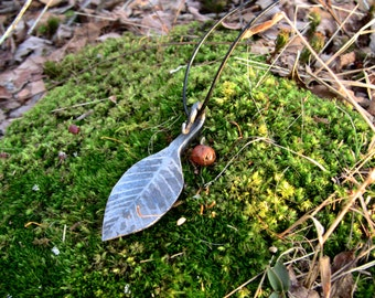 Hand Forged Leaf Necklace