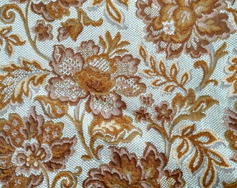 Yellow Brocade Tapestry Fabric