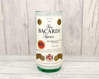 Retro Bacardi Bottle Soy Wax Candle (Recycled Bottle)