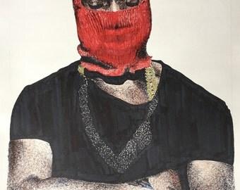 Color Kanye West Ink Print