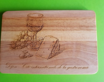 Cutting board with pattern: Dijon, cited international gastronomy