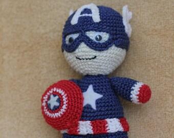 Captain America amigurumi handmande