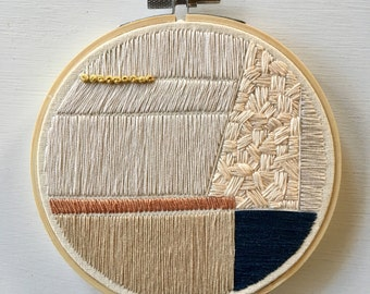 Geometric Abstract Embroidery Hoop Art