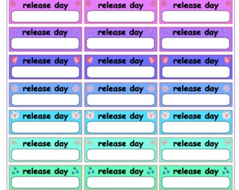 """Author Planner Stickers - Word Sheet """"Release Day"""""""