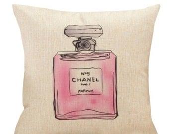 Chanel No. 5 Perfume Pillow Case